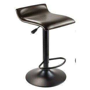 Winsome Paris Adjustable Height Swivel Bar Stool (Set of 2)