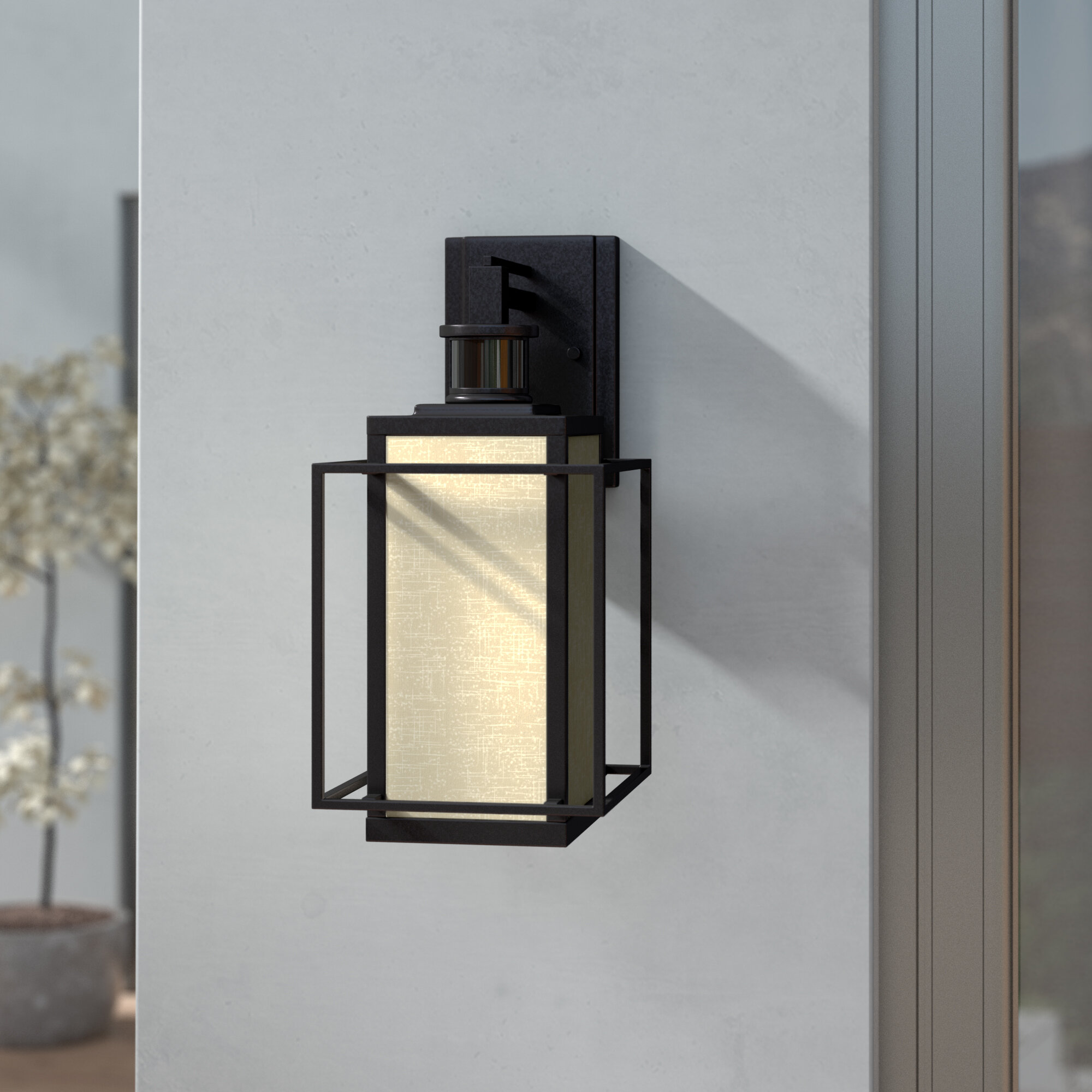 Brayden Studio Guinn Dualux Outdoor Wall Lantern With Motion Sensor Reviews Wayfair Ca