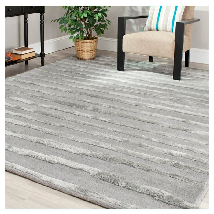 Caden Hand Tufted Wool Gray Area Rug Reviews Allmodern