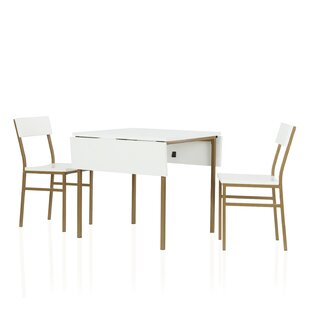 Mercer Extendable Dining Set With 2 Chairs By CosmoLiving By Cosmopolitan