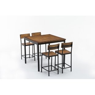 Bushman 5 Piece Pub Table Set by Williston Forge