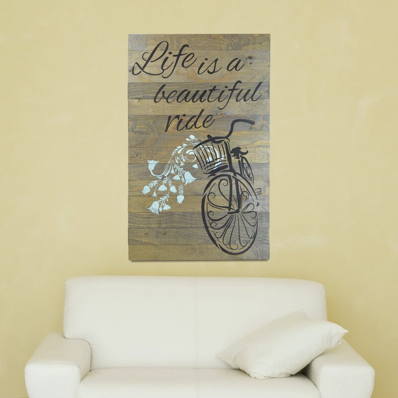 FiresideHome In-A-Word Life Is a Beautiful Ride Textual Art | Wayfair