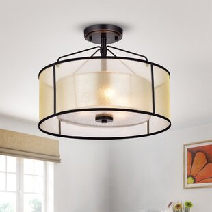 Brayden Studio Brisco 3-Light Semi Flush Mount