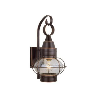 Caicos 1-Light Outdoor Wall Lantern by Beachcrest Home