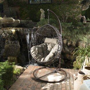 Trent Austin Design Dawson Outdoor Basket Swing Chair with Stand
