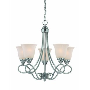 Ellis 5-Light Shaded Chandelier by Charlton Home