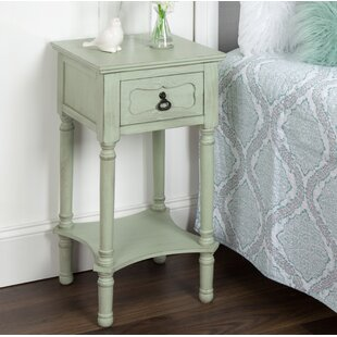 Caylor Classic Nightstand End Table with Storage by Ophelia & Co.
