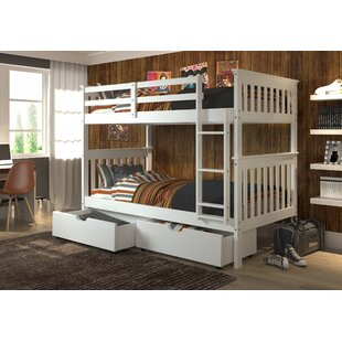 Dubbo Twin Over Twin Bunk Bed With Drawers by Harriet Bee #2