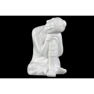 Pascal Ceramic Sitting Buddha Figurine