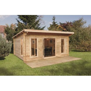 Viens 17 X 15 Ft. Tongue & Groove Log Cabin By Sol 72 Outdoor