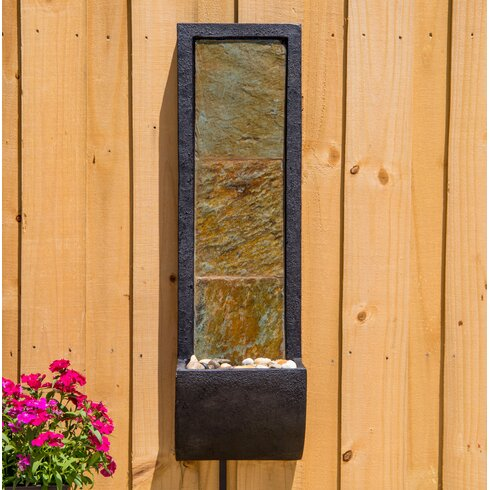Wildon Home ® Natural Stone Cocora Indoor Wall Fountain with Light ...