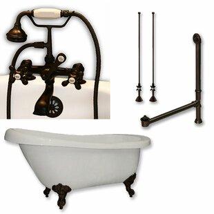 Savings 61 x 28 Clawfoot Bathtub ByCambridge Plumbing