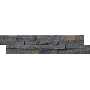 6 X 24 Slate Splitface Tile In Charcoal Rust