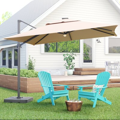 Jendayi Square Cantilever Umbrella by Latitude Run No Copoun