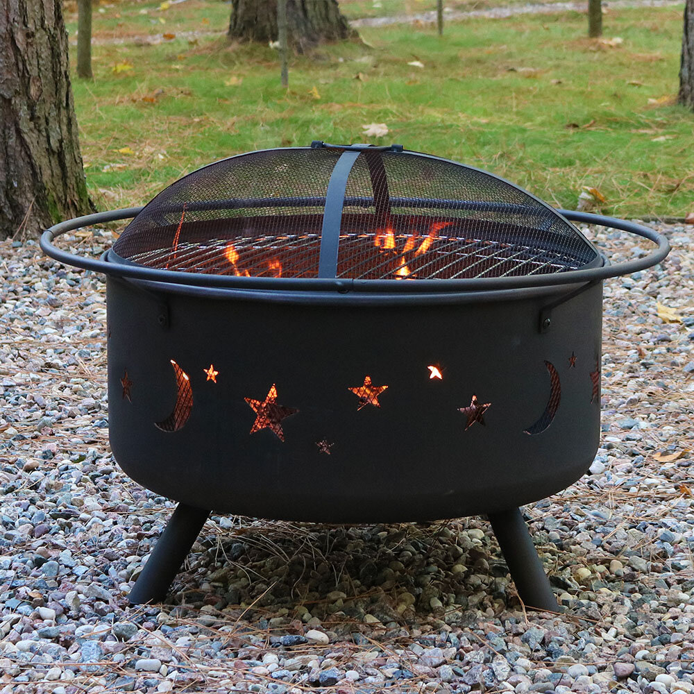 Arlmont Co Hillman Steel Fire Pit Reviews Wayfair
