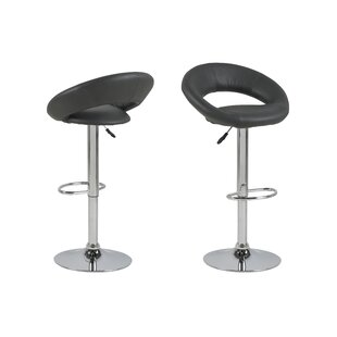 Luciana Height Adjustable Swivel Bar Stool By Metro Lane