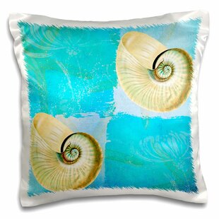 Grandin Two Shells With Starfish And Beach Theme Pillow Cover