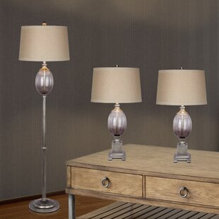 Fangio Lighting 3 Piece Table and Floor Lamp Set
