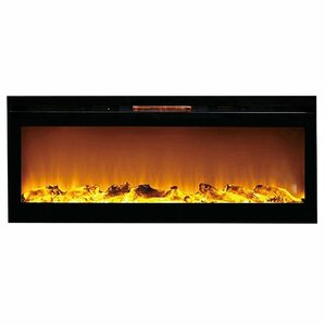 Reno Log Wall Mount Electric Fireplace by Gi..
