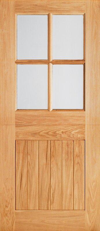 Lpd Doors Cottage Wood 6 Panel Unfinished Glazed External Door