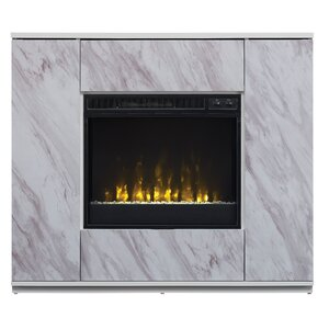 """Georgine TV Stand for TVs up to 47"""" with Electric Fireplace"""