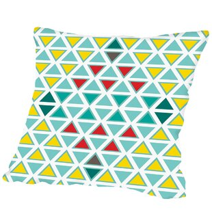 Traingle Multi Outdoor Throw Pillow