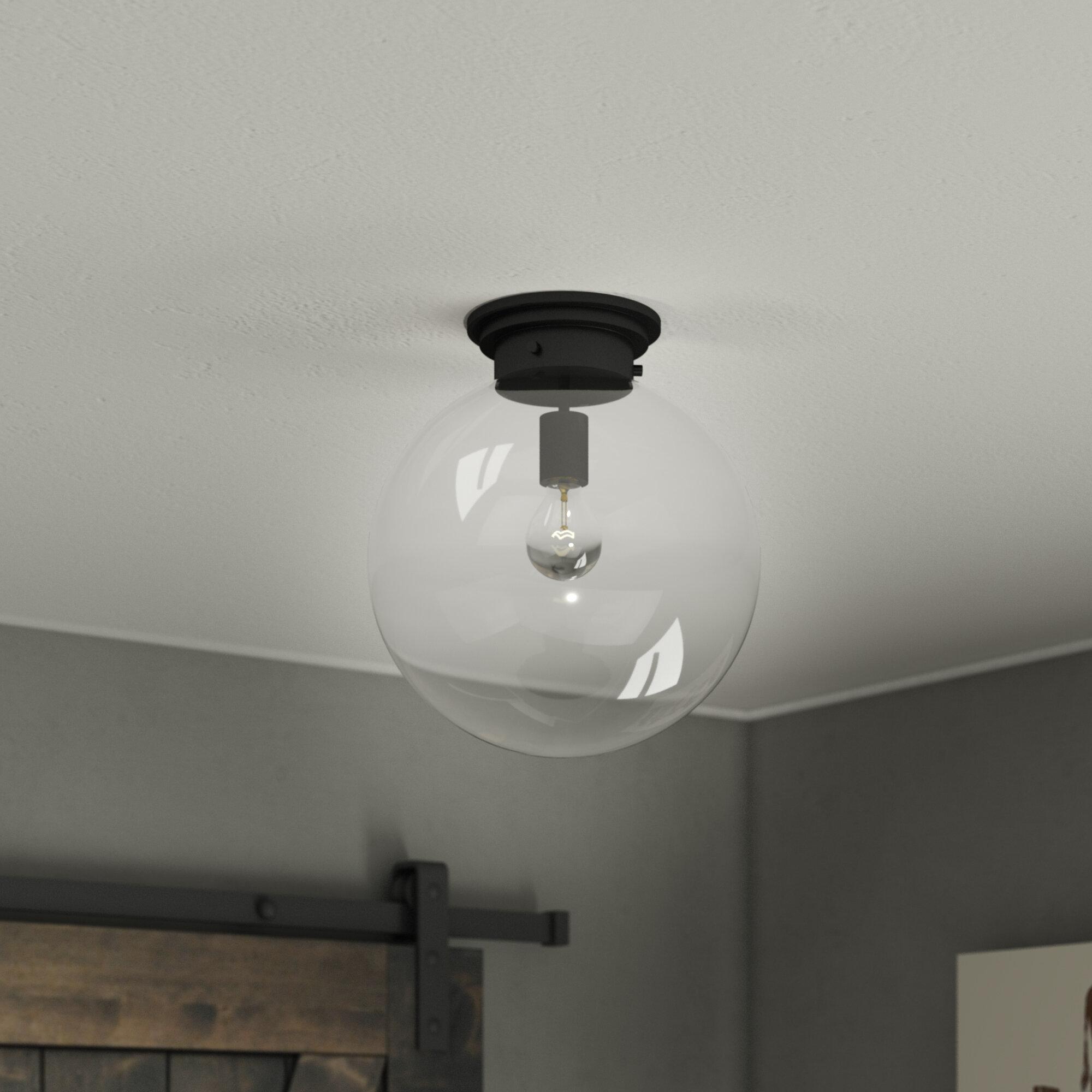 Wrought studio rosemont 1 light semi flush mount reviews wayfair