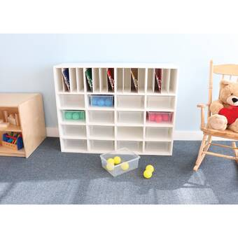 Jonti Craft Double Sided 24 Compartment Cubby With Wheels Wayfair