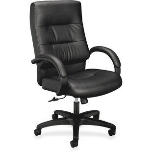 HON Ergonomic Genuine Leather Executive Chair