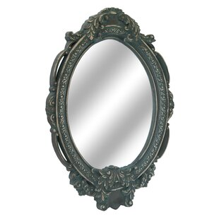 One Allium Way Oval Resin Wall Mirror