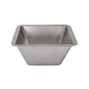 Premier Copper Products Metal Square Undermount Bathroom Sink