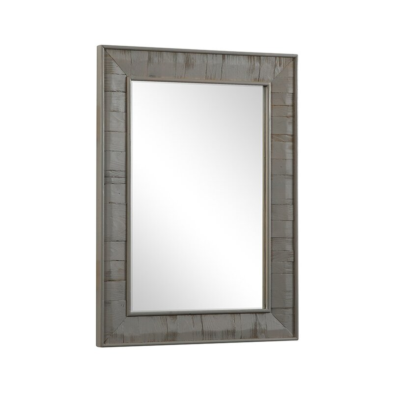 Clemmie Rectangle Rustic Wood Wall Mirror