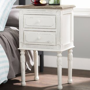 Laurel Foundry Modern Farmhouse Kolya 2 Drawer Nightstand