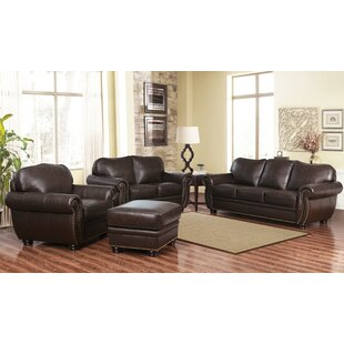 Deals Hotchkiss 4 Piece Leather Living Room Set by World Menagerie Reviews (2019) & Buyer's Guide