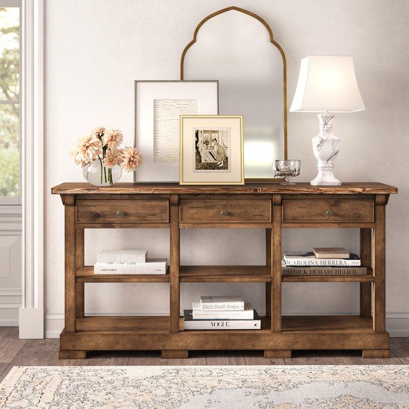 Kelly Clarkson Home Summit 72 Wide 3 Drawer Poplar Wood Buffet Table Reviews Wayfair