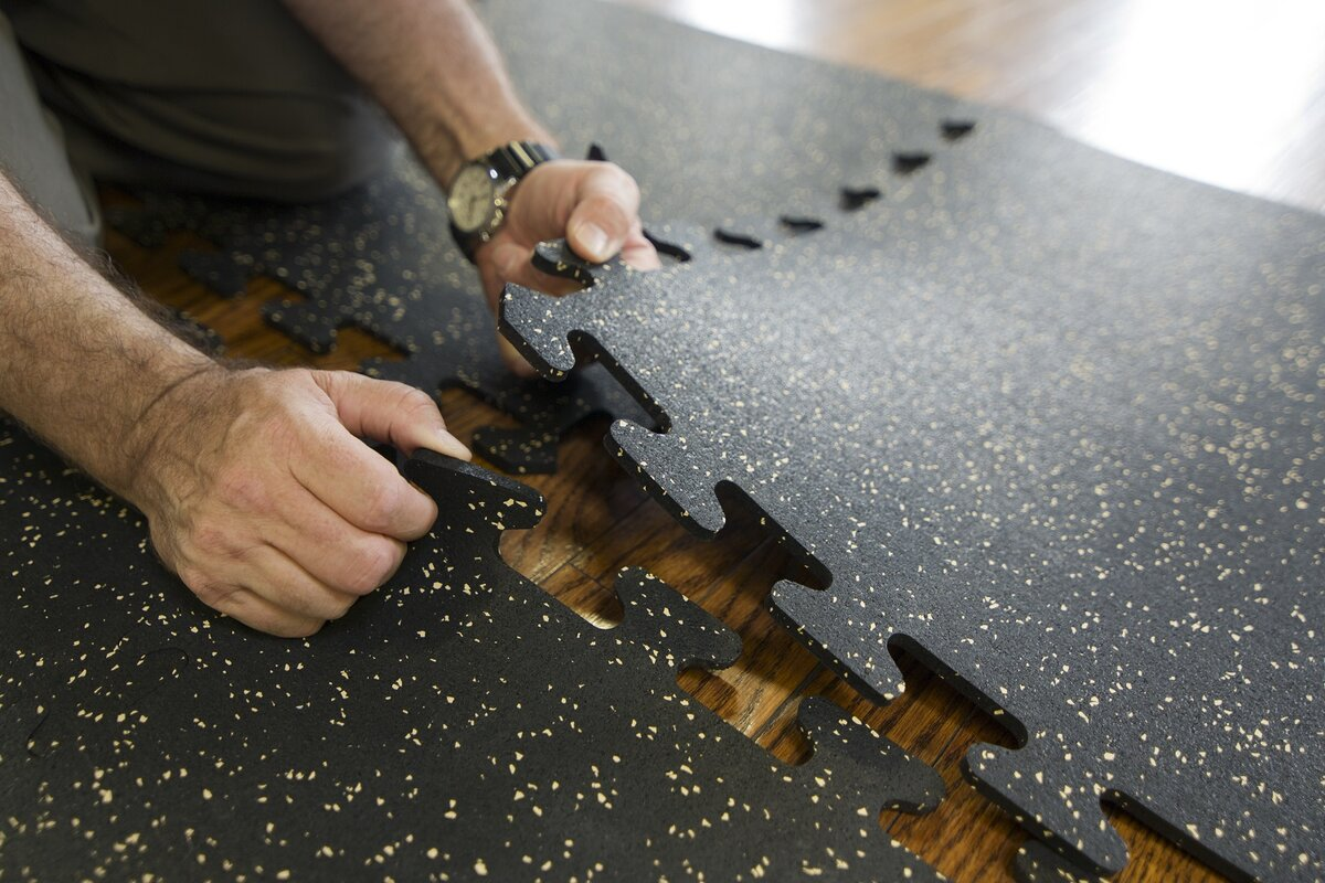 Mats inc interlocking floor recycled rubber tiles reviews wayfair interlocking floor recycled rubber tiles dailygadgetfo Choice Image
