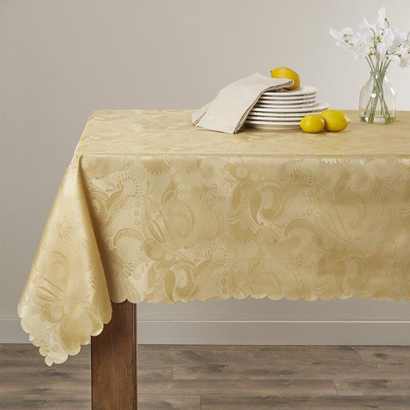 "Alcott Hill Oglethorpe Tablecloth  Size: 52"" W x 70"" L, Color: Gold"