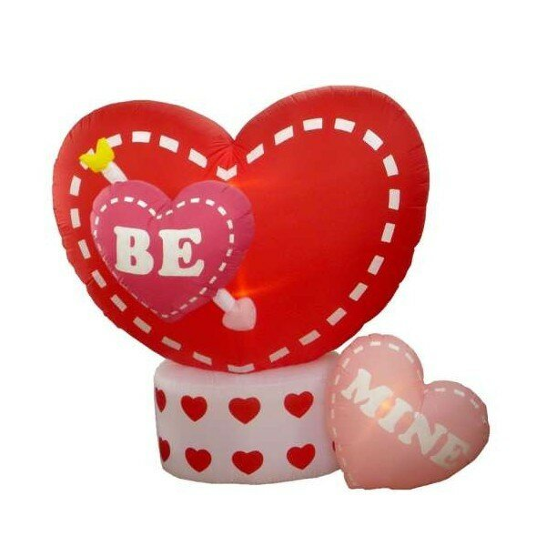 Valentineu0027s Day Inflatable Animated Hearts Decoration