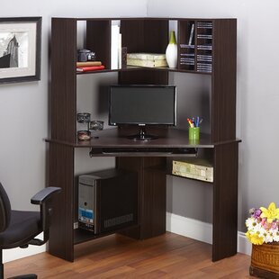 Friedman Corner Computer Desk With Hutch by Latitude Run Great Reviews