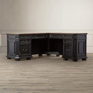 Darby Home Co Stina L-Shaped Executive Desk