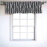 Zebra Print Valances Kitchen Curtains