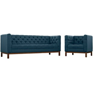 Look for Panache 2 Piece Living Room Set by Modway Reviews (2019) & Buyer's Guide