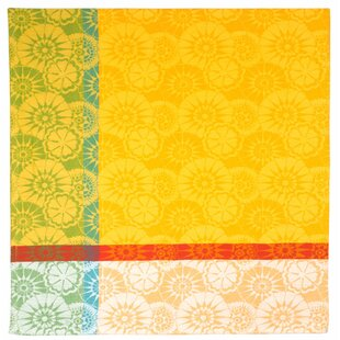 Millefleur Lemon Jacquard Tablecloth