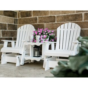 Patricia Plastic Gliding Adirondack Chair by Rosecliff Heights