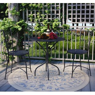 Bluff Canyon 3 Piece French Café Bistro Set & French Bistro Table And Chairs | Wayfair