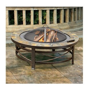 Jeco Inc. Burlington Steel Wood Burning Fire Pit Table