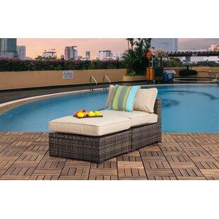 Bayou Breeze Harrington Outdoor Chaise Lounge with Cushions