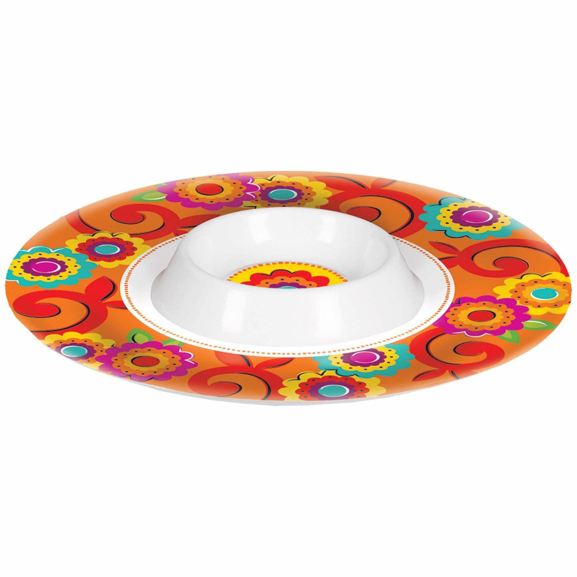 Amscan Cinco De Mayo Fiesta Melamine Chip And Dip Platter Wayfair