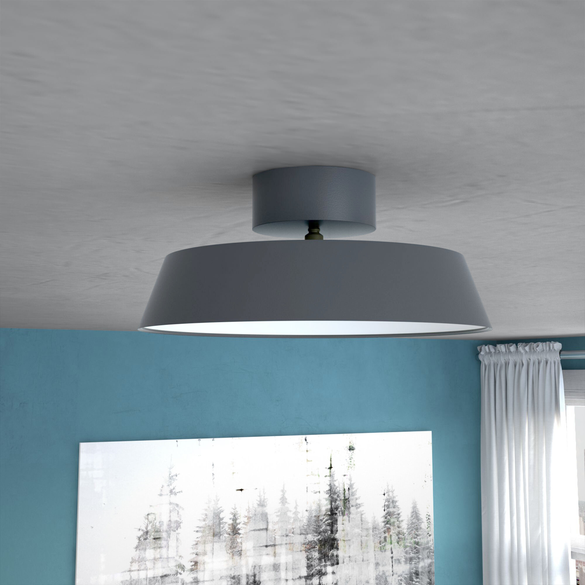 Mercury Row Hermia 1 Light Semi Flush Mount & Reviews | Wayfair.co.uk