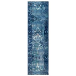 Brilliant Kermin Blue Indoor/Outdoor Area Rug